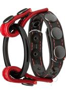 Kink Cock And Ball Master Cock Ring - Black And Red