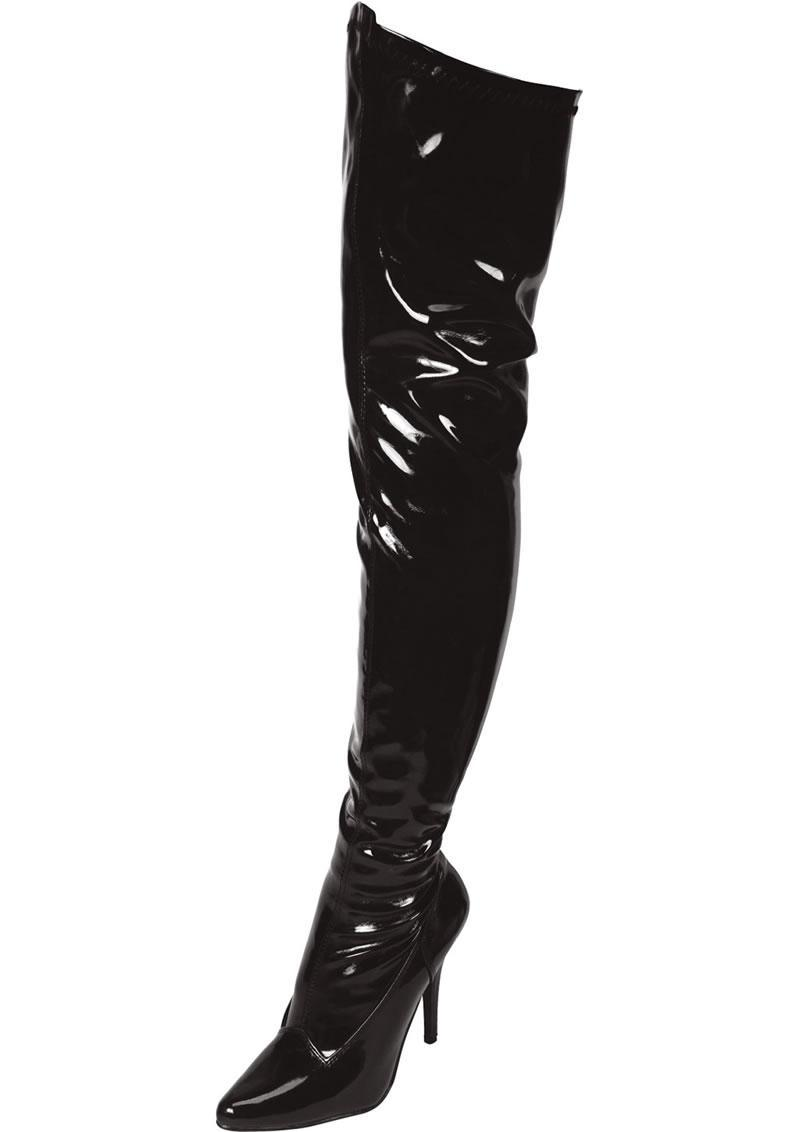 Black Thigh High Boot Sz 9