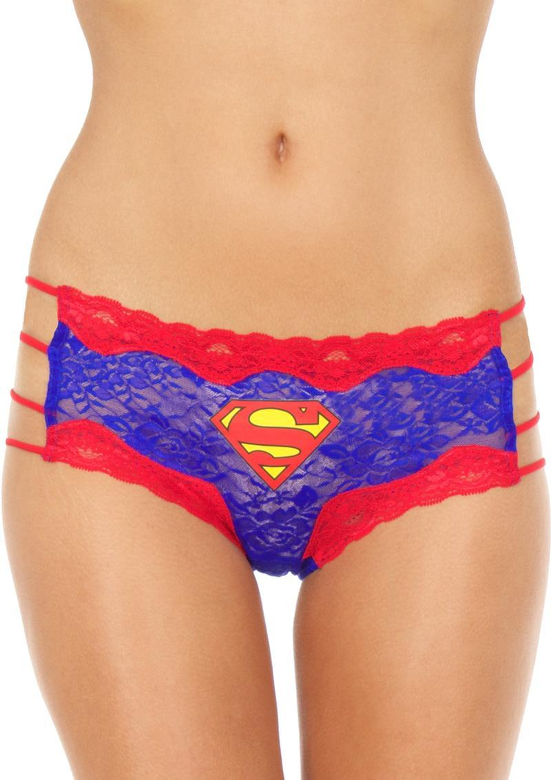 Superman Lace String Hipster Panty-small