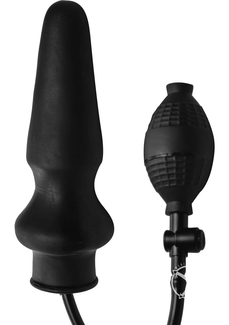 Master Series Expand Xl Inflatable Anal Plug - Black