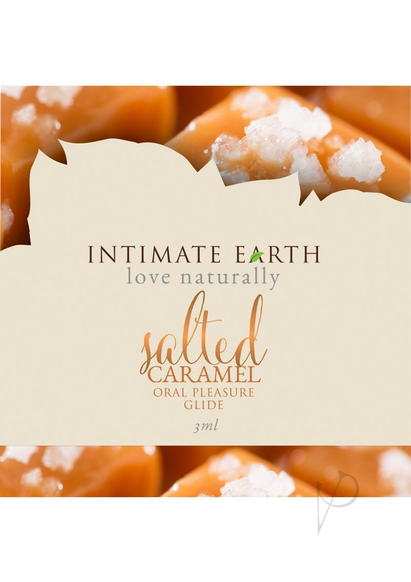 Intimate Earth Natural Flavors Glide Lubricant Salted Caramel 3ml Foil