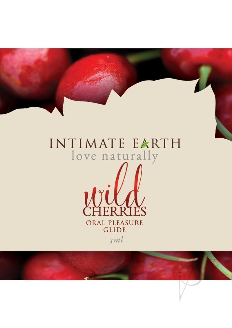Intimate Earth Natural Flavors Glide Lubricant Wild Cherry 3ml Foil