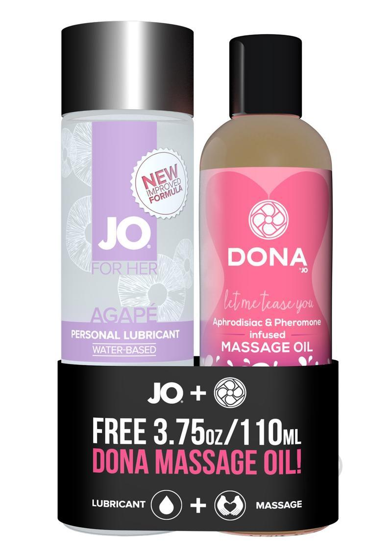 Jo And Dona Prepacked Gift Set Lubricant And Massage Oil