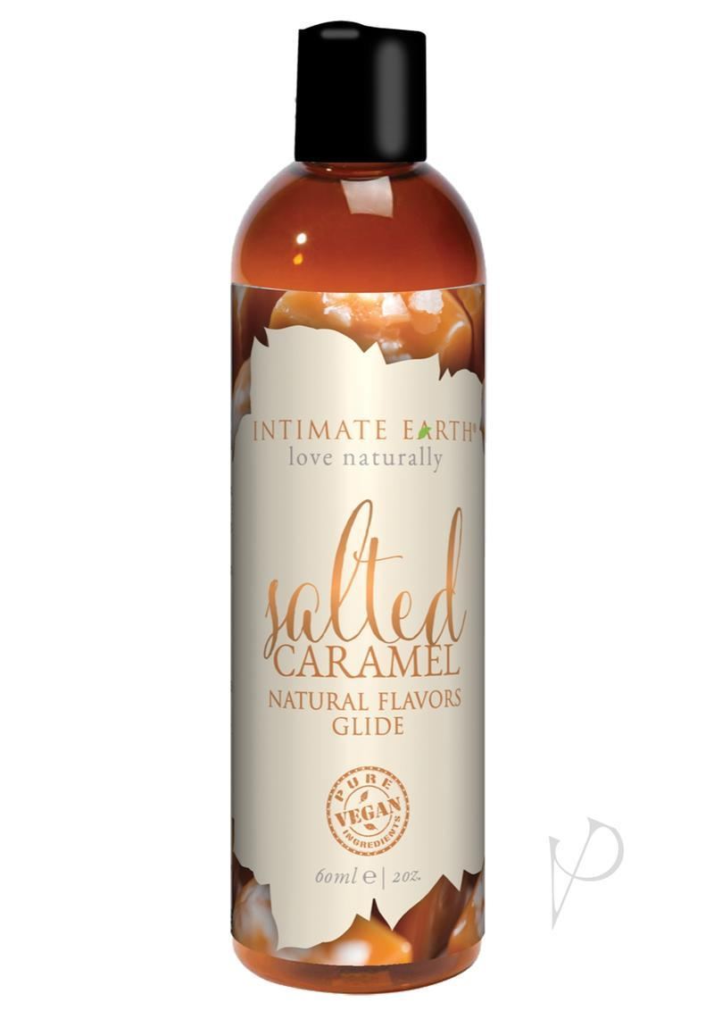 Intimate Earth Natural Flavors Glide Lubricant Salted Caramel 2oz