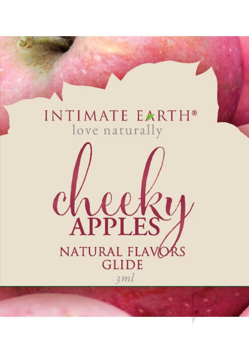 Intimate Earth Natural Flavors Glide Lubricant Cheeky Apples 3ml Foil
