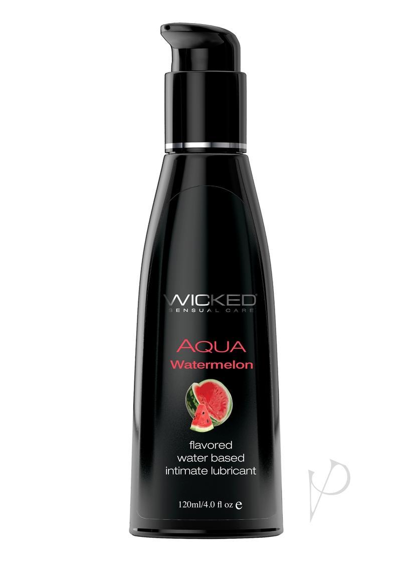 Wicked Aqua Water Based Flavored Lubricant Watermelon 4oz
